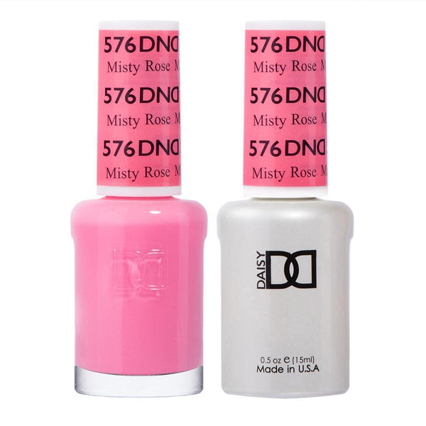 DND 576 Misty Rose - DND Gel Polish & Matching Nail Lacquer Duo Set - 0.5oz