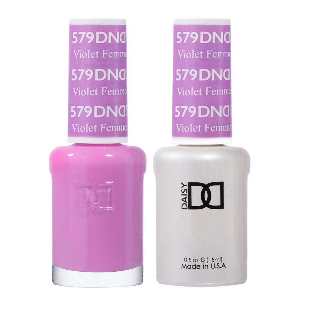 DND 579 Violet Femmes - DND Gel Polish & Matching Nail Lacquer Duo Set - 0.5oz