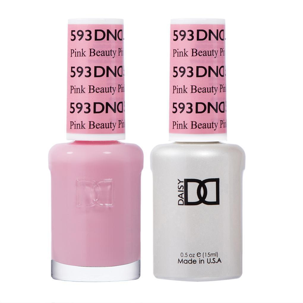 DND 593 Pink Beauty - DND Gel Polish & Matching Nail Lacquer Duo Set - 0.5oz