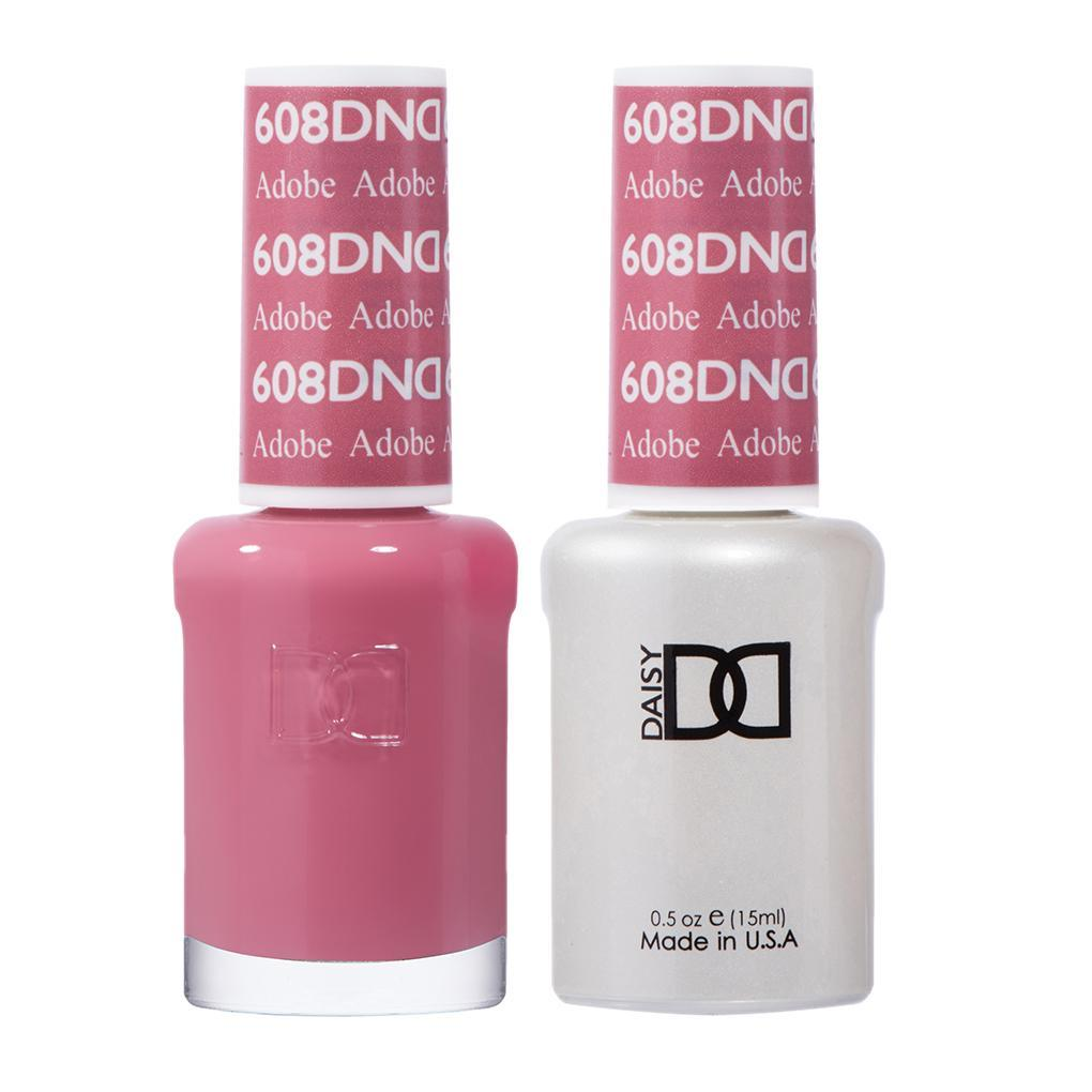 DND 608 Adobe - DND Gel Polish & Matching Nail Lacquer Duo Set - 0.5oz