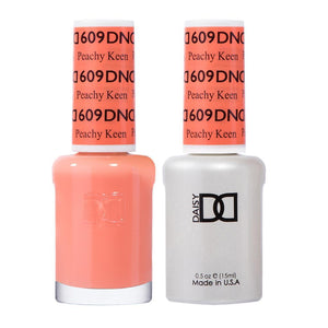 DND 609 Peachy Keen - DND Gel Polish & Matching Nail Lacquer Duo Set - 0.5oz