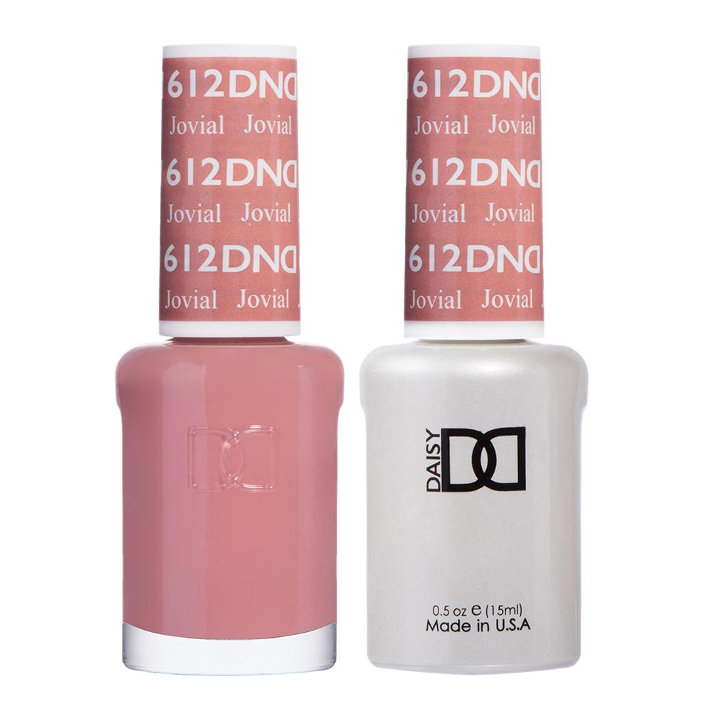 DND 612 Jovial - DND Gel Polish & Matching Nail Lacquer Duo Set - 0.5oz