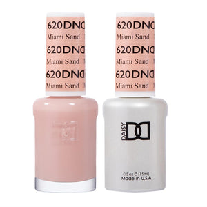 DND 620 Miami Sand - DND Gel Polish & Matching Nail Lacquer Duo Set - 0.5oz