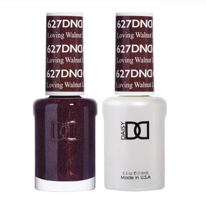 DND 627 Loving Walnut - DND Gel Polish & Matching Nail Lacquer Duo Set - 0.5oz
