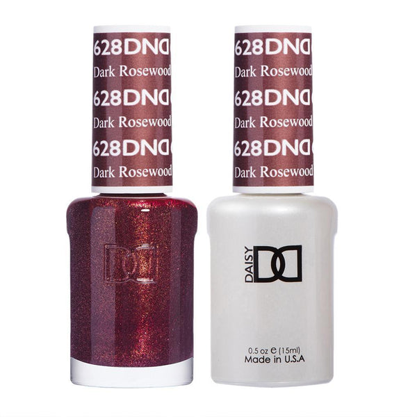 DND 628 Dark Rosewood - DND Gel Polish & Matching Nail Lacquer Duo Set - 0.5oz