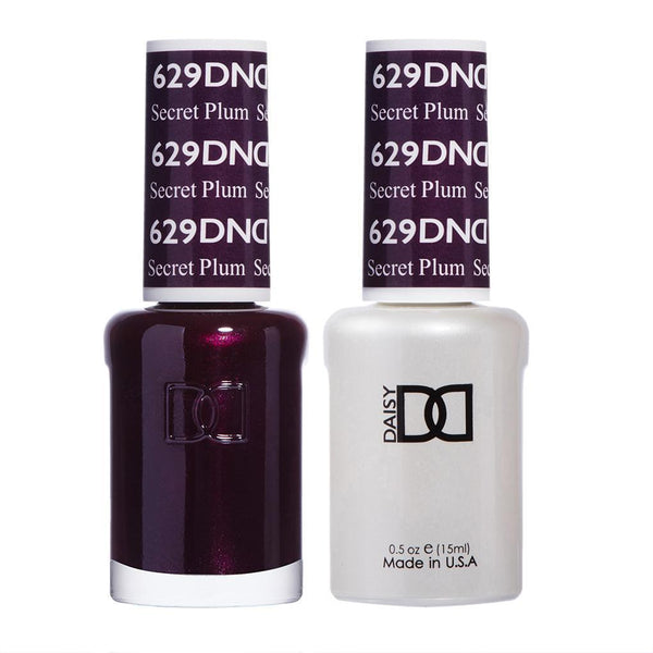 DND 629 Secret Plum - DND Gel Polish & Matching Nail Lacquer Duo Set - 0.5oz