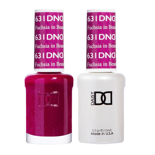 DND 631 Fuchsia in Beauty - DND Gel Polish & Matching Nail Lacquer Duo Set - 0.5oz