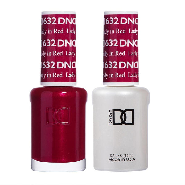 DND 632 Lady in Red - DND Gel Polish & Matching Nail Lacquer Duo Set - 0.5oz