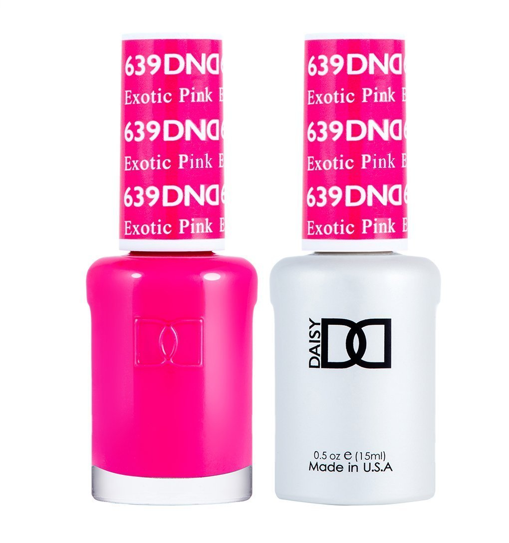 DND 639 Exotic Pink - DND Gel Polish & Matching Nail Lacquer Duo Set - 0.5oz