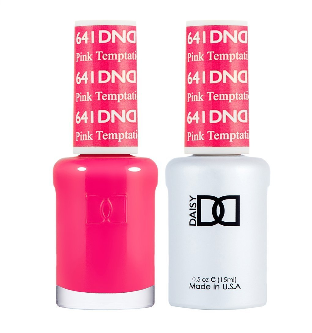 DND 641 Pink Temptation - DND Gel Polish & Matching Nail Lacquer Duo Set - 0.5oz