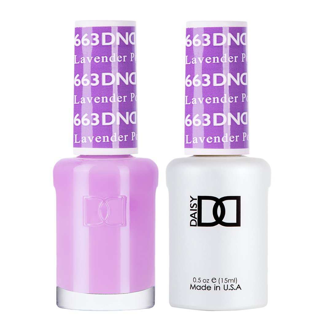 DND 663 Lavender Pop - DND Gel Polish & Matching Nail Lacquer Duo Set - 0.5oz