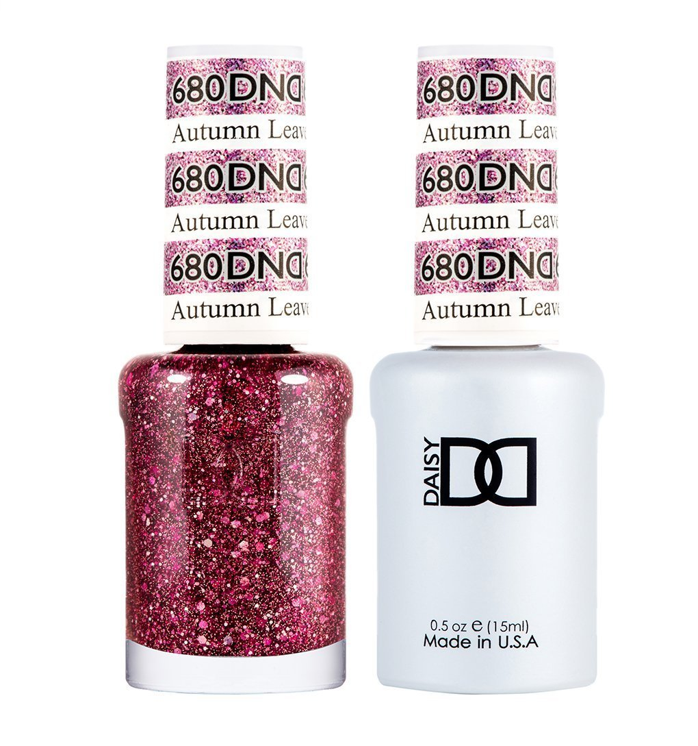 DND 680 Autumn Leaves - DND Gel Polish & Matching Nail Lacquer Duo Set - 0.5oz