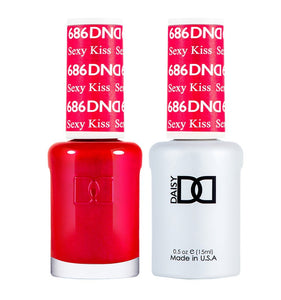 DND 686 Sexy Kiss - DND Gel Polish & Matching Nail Lacquer Duo Set - 0.5oz