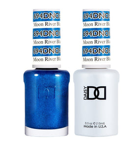 DND 694 Moon River Blue - DND Gel Polish & Matching Nail Lacquer Duo Set - 0.5oz