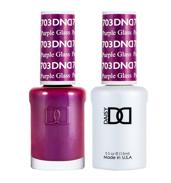 DND 703 Purple Glass - DND Gel Polish & Matching Nail Lacquer Duo Set - 0.5oz