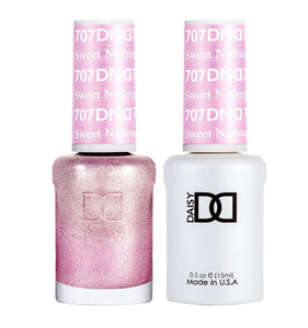 DND 707 Sweet Nothing - DND Gel Polish & Matching Nail Lacquer Duo Set - 0.5oz