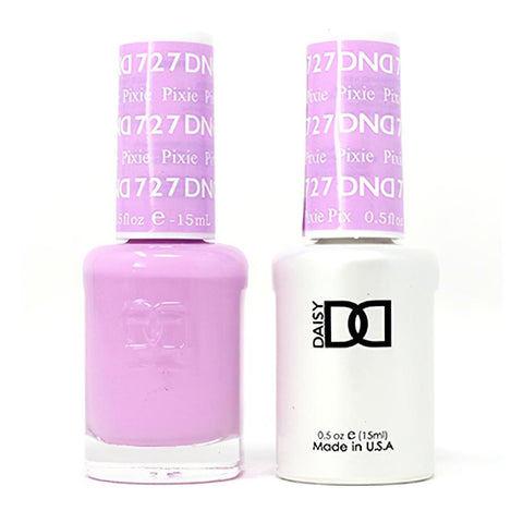 DND 727 Pixie - DND Gel Polish & Matching Nail Lacquer Duo Set - 0.5oz