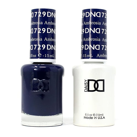 DND 729 Ambrosia - DND Gel Polish & Matching Nail Lacquer Duo Set - 0.5oz