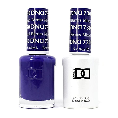 DND 730 Mixed Berries - DND Gel Polish & Matching Nail Lacquer Duo Set - 0.5oz