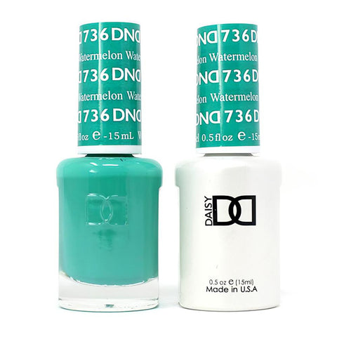 DND 736 Watermelon - DND Gel Polish & Matching Nail Lacquer Duo Set - 0.5oz