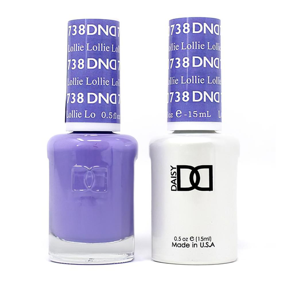 DND 738 Lollie - DND Gel Polish & Matching Nail Lacquer Duo Set - 0.5oz