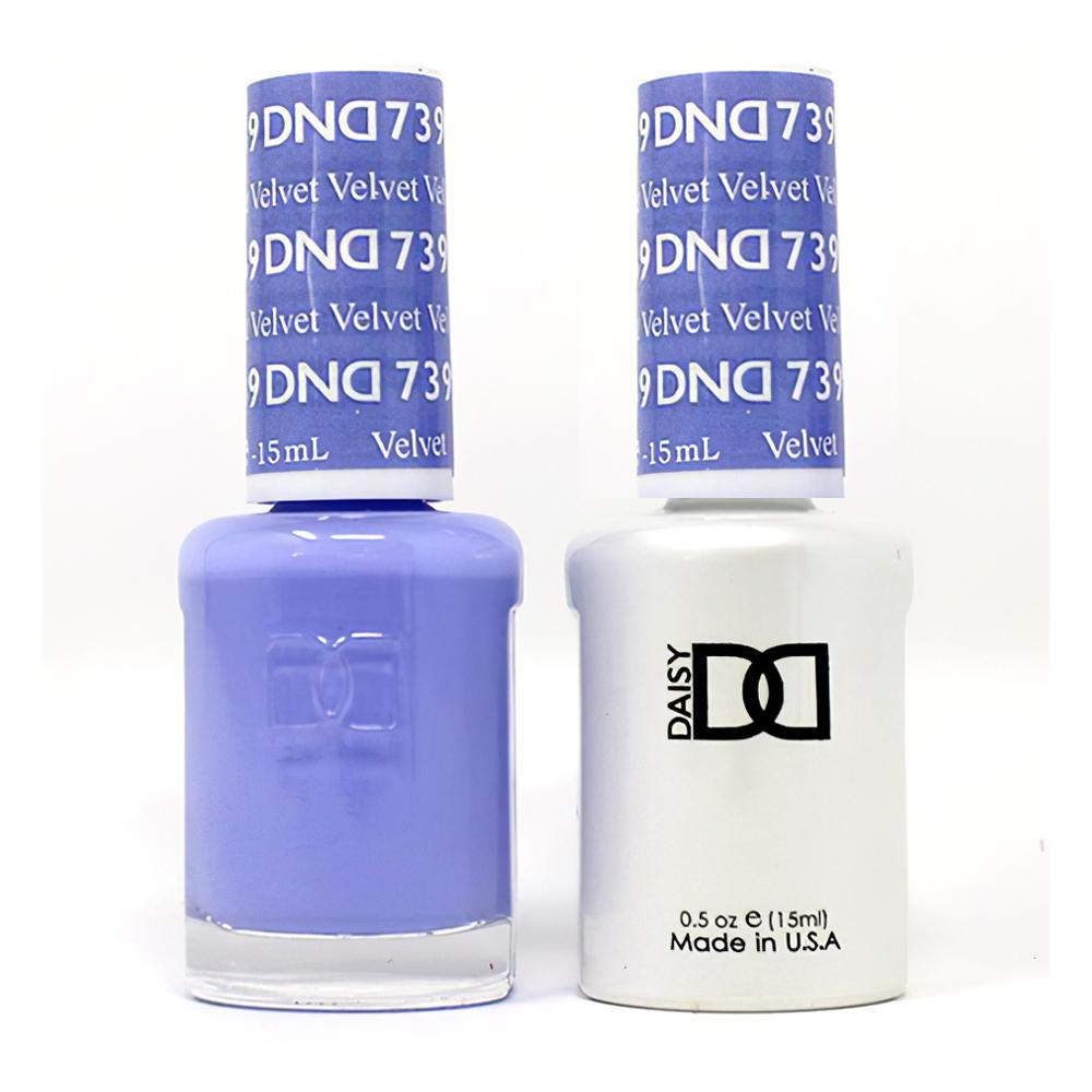 DND 739 Velvet - DND Gel Polish & Matching Nail Lacquer Duo Set - 0.5oz
