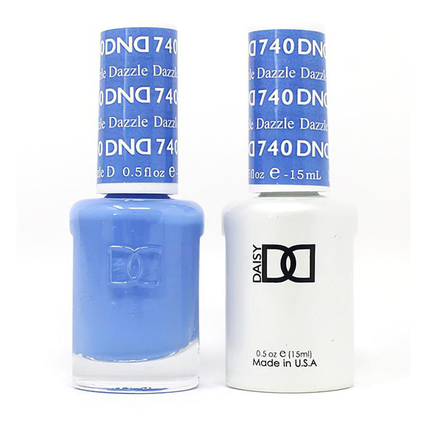 DND 740 Dazzle - DND Gel Polish & Matching Nail Lacquer Duo Set - 0.5oz