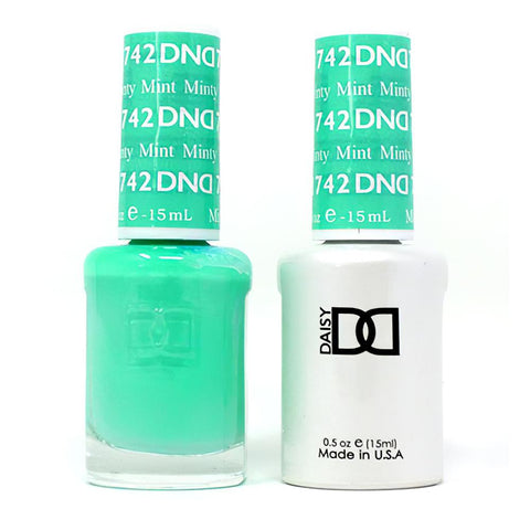 DND 742 Minty Mint - DND Gel Polish & Matching Nail Lacquer Duo Set - 0.5oz