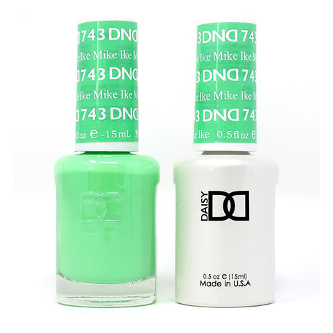 DND 743 Mike Ike - DND Gel Polish & Matching Nail Lacquer Duo Set - 0.5oz