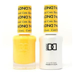 DND 746 Buttered Corn - DND Gel Polish & Matching Nail Lacquer Duo Set - 0.5oz