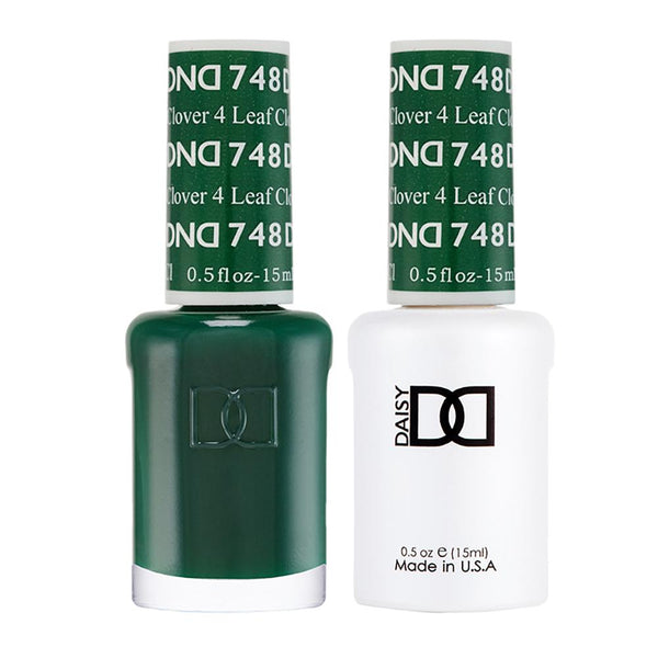 DND 748 4 Leaf Clover - DND Gel Polish & Matching Nail Lacquer Duo Set - 0.5oz