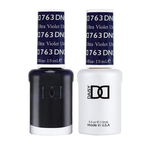 DND 763 Ultra Violet - DND Gel Polish & Matching Nail Lacquer Duo Set - 0.5oz