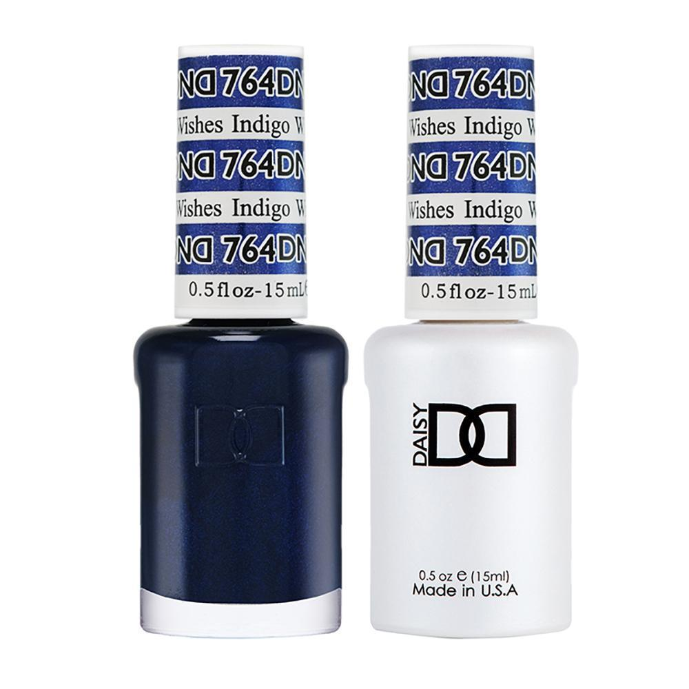 DND 764 Indigo Wishes - DND Gel Polish & Matching Nail Lacquer Duo Set - 0.5oz