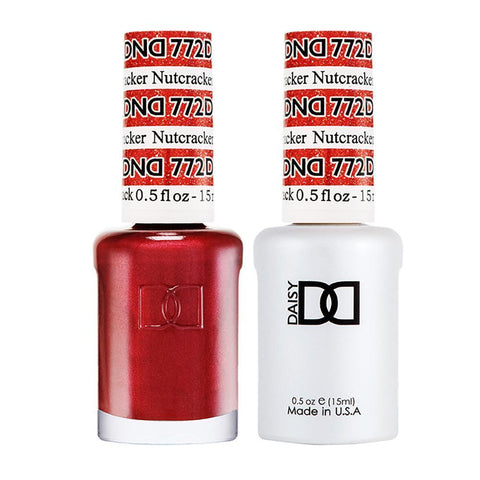 DND 772 Nutcracker - DND Gel Polish & Matching Nail Lacquer Duo Set - 0.5oz