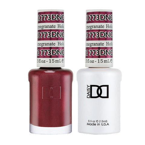 DND 773 Holiday Pomegranate - DND Gel Polish & Matching Nail Lacquer Duo Set - 0.5oz