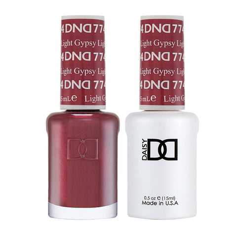 DND 774 Gypsy Light - DND Gel Polish & Matching Nail Lacquer Duo Set - 0.5oz