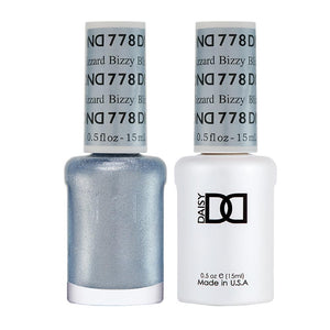 DND 778 Bizzy Blizzard - DND Gel Polish & Matching Nail Lacquer Duo Set - 0.5oz