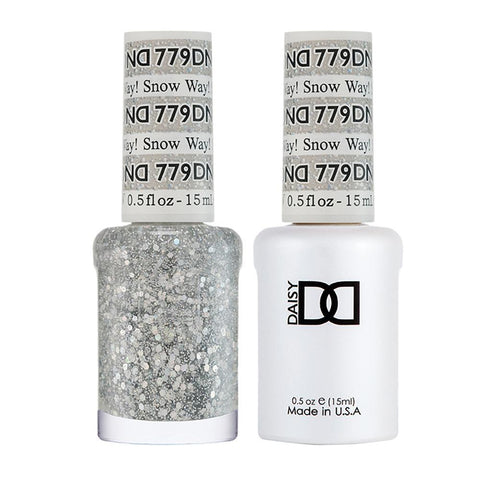 DND 779 Snow Way! - DND Gel Polish & Matching Nail Lacquer Duo Set - 0.5oz