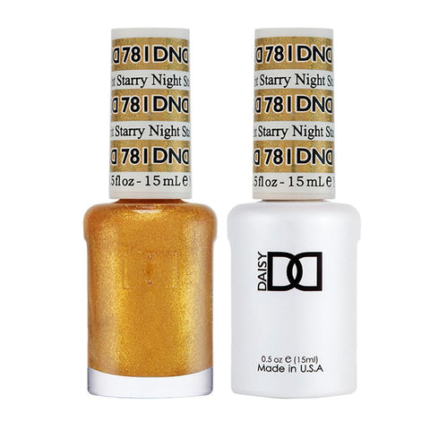 DND 781 Starry Night - DND Gel Polish & Matching Nail Lacquer Duo Set - 0.5oz