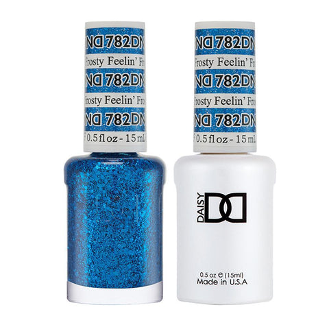 DND 782 Feelin' Frosty - DND Gel Polish & Matching Nail Lacquer Duo Set - 0.5oz