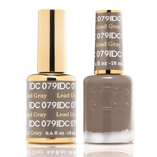 DND DC 079 Lead Gray - Gel & Matching Polish Set - DND DC Gel & Lacquer
