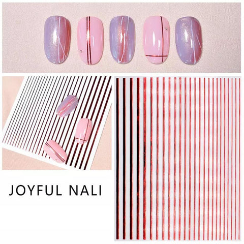 3D Nail Art Sticker Joyful Nali