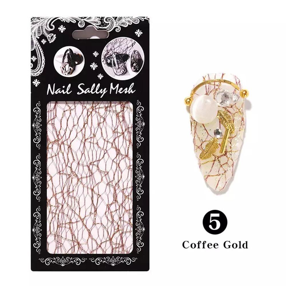 Mesh Sticker - Coffee Gold