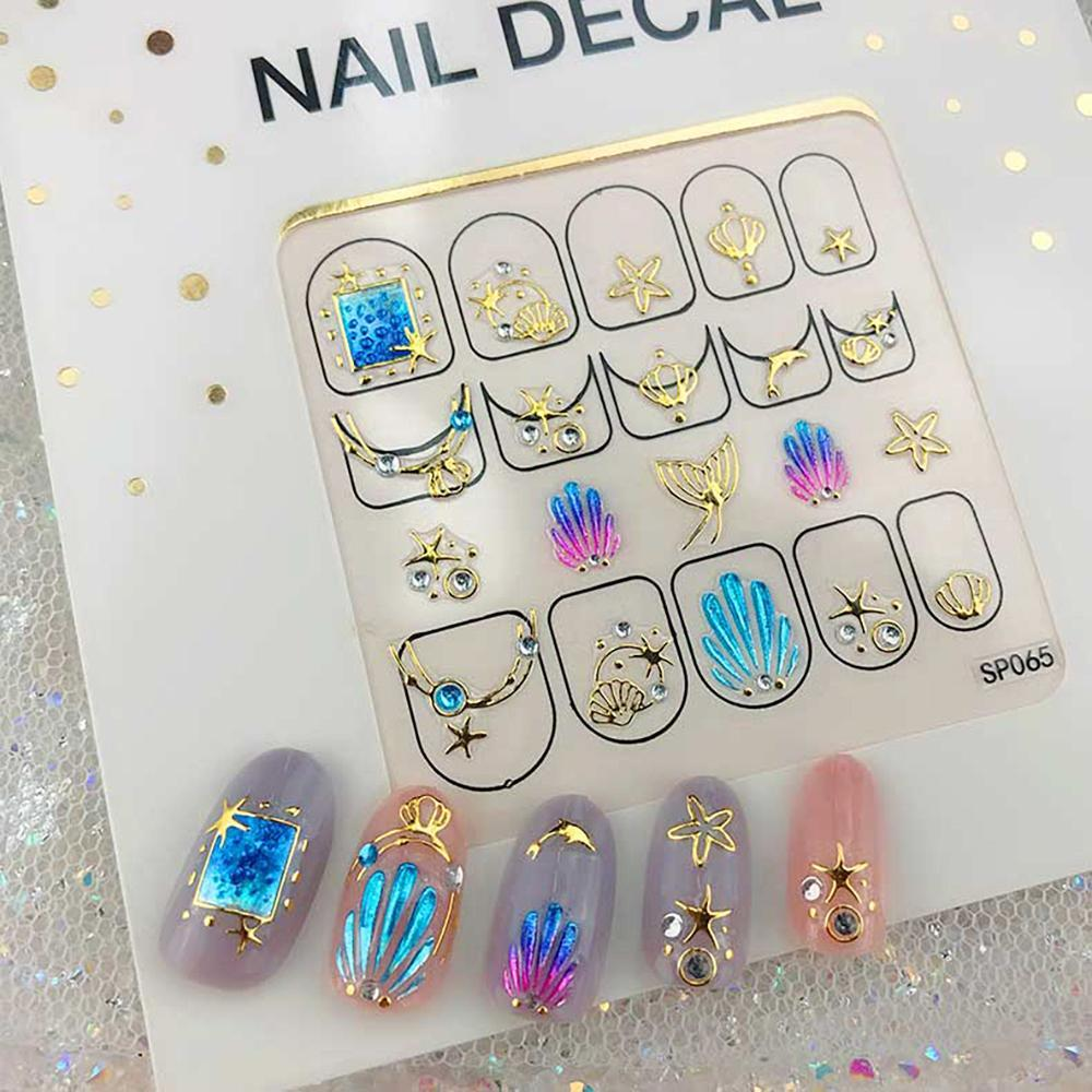 3D Laser Bronzing Nail Stickers SP065