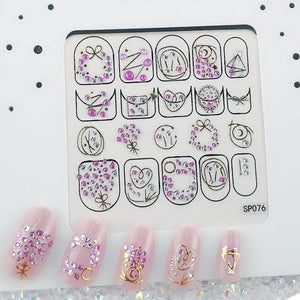 3D Laser Bronzing Nail Stickers SP076