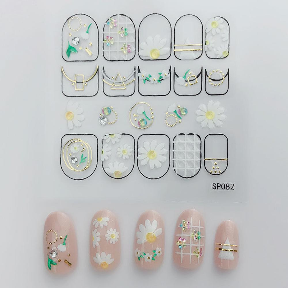 3D Laser Bronzing Nail Stickers SP082