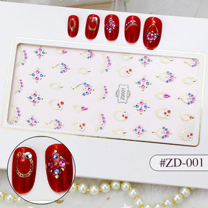 3D Laser Bronzing Nail Stickers ZD001