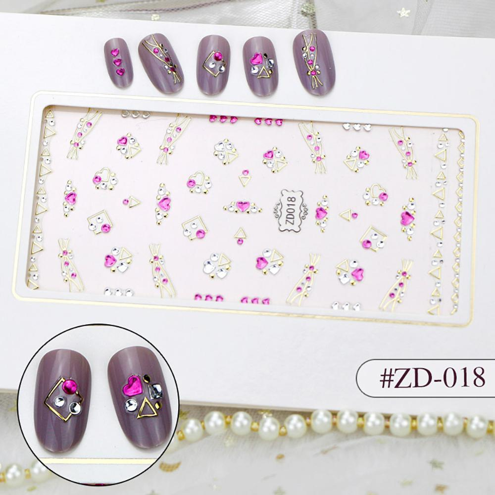 3D Laser Bronzing Nail Stickers ZD018
