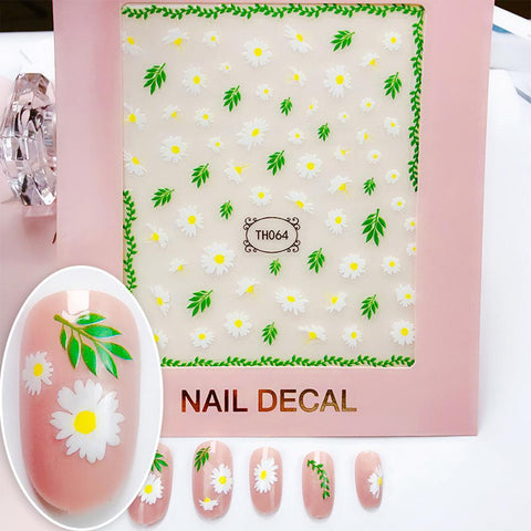 3D Laser Bronzing Nail Stickers TH064