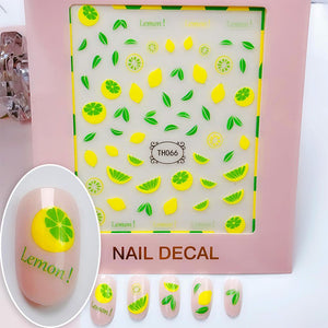 3D Laser Bronzing Nail Stickers TH066